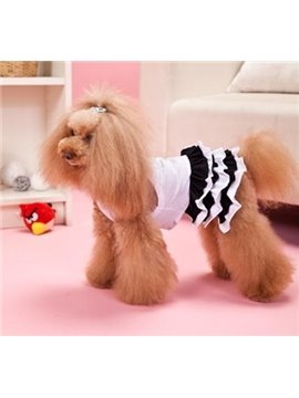 New Arrival Cute Black Lacework Style Eiffel Tower Fashion Dog Clothing
