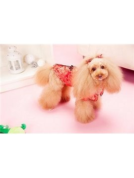 New Arrival Amazing Cheongsam Style Red and Blue Color Fashion Dog Clothing