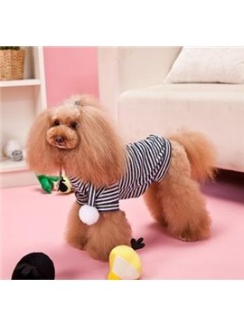 New Arrival Soft Blue and White Color Classic Stripe Style Cute Dog Clothing