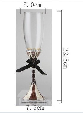 Wedding Gift Crystal Glasses : Great Gift Idea for Wedding Crystal Enamel Red Wine Goblet/2 Pieces ...