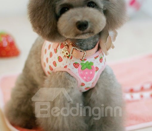 High Quality Soft Cute Sreawberry Style Fashion Pet Harnesses