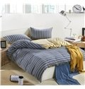 Simple fashion Style High quality Cotton made Stripes 4 Piece Bedding Sets/Duvet Cover Sets