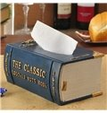 New Arrival Noble Vintage Book Shape Resin Tissue Box