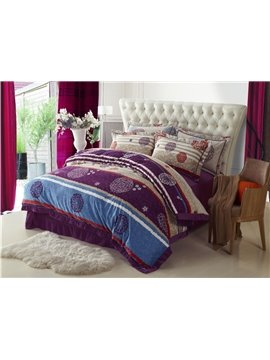 Unique Comfortable Sandedcloth Material 4 Piece Bedding Sets/Duvet Cover Sets