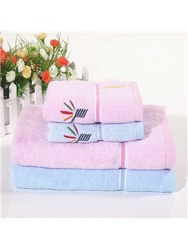 New Arrival Skin Care Twistless Embroidered Bath Towel