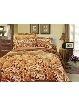 Elegant Warm-toned Color Comfortable Sandedcloth Material 4 Piece Bedding Sets/Duvet Cover Sets