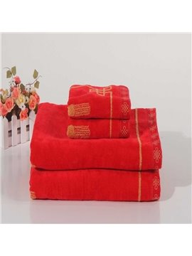 100% Cotton Skin Care Red One-Piece Bath Towel