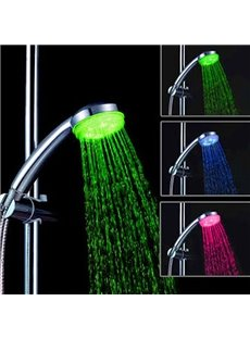 LED Shower Head Faucet Changing 3 Color by Temperature