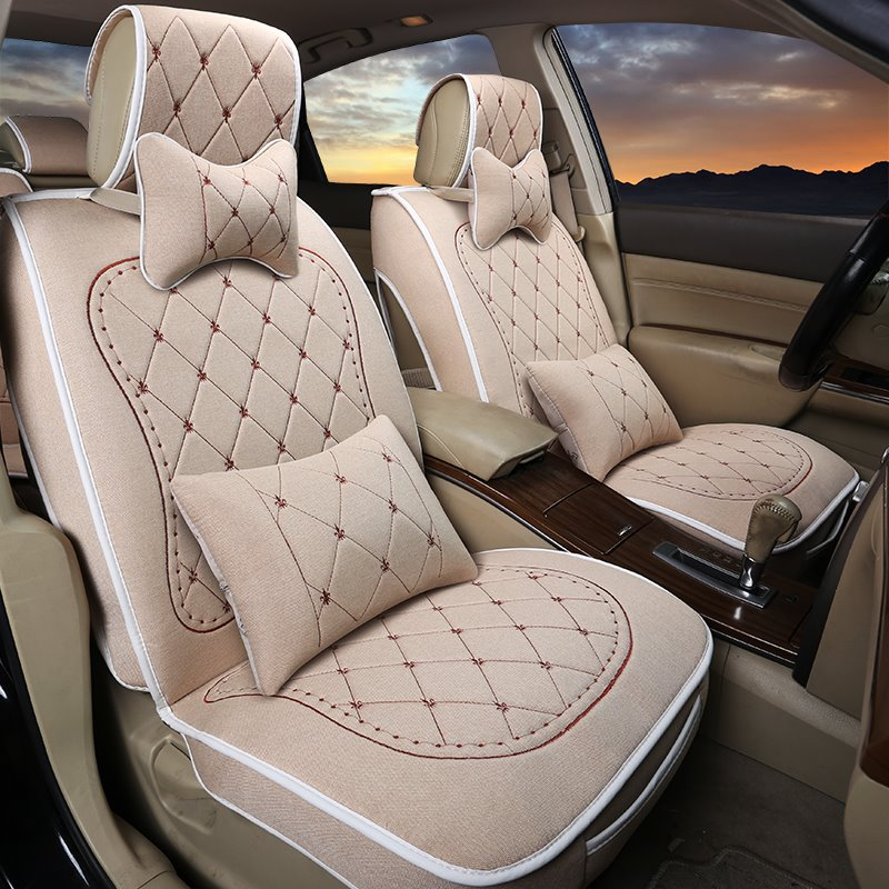 elegant luxurious embroidered soft fashion car seat covers. Black Bedroom Furniture Sets. Home Design Ideas