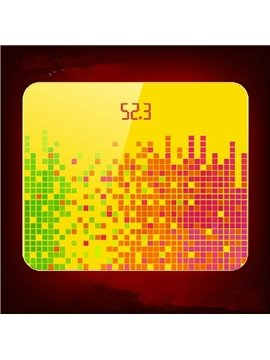 Colorful Dancing Notes Style Bathroom Weight Scale