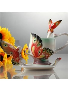 Ceramic Enamel Porcelain Creative Butterfly Coffee Cup