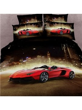 Luxury Sports Car  Print 4 Piece Bedding Sets/Duvet Cover Sets