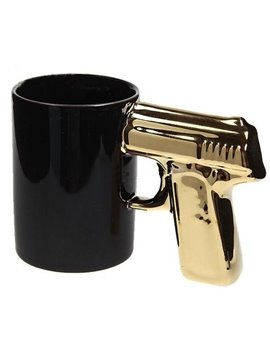 Gun Handle Ceramic Home Use & Office Use Cup (Silver, Gold and Black color handle)