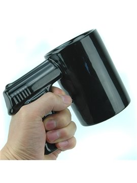 Creative Black Ceramic Gun Handle Coffee Cup