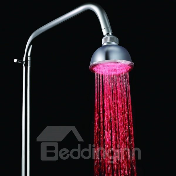New Arrival LED Rainfall Shower Head faucet Changing Color by Temperature