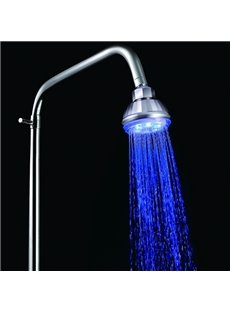 High Quality LED Rainfall Shower Head faucet Changing Color by Temperature