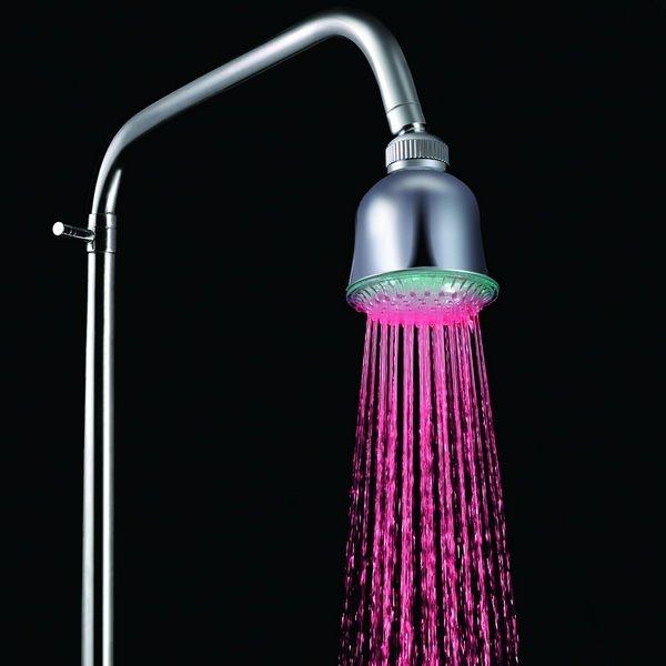 Unique LED Colorful Shower Head faucet Changing Color by Temperature