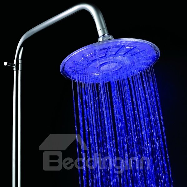 New Arrival LED Rainfall Shower Head Faucet Changing Colors by Temperature