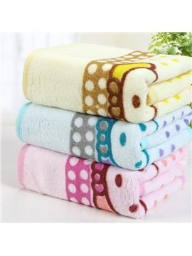 Colored Comfortable Skin Care Printed Towel