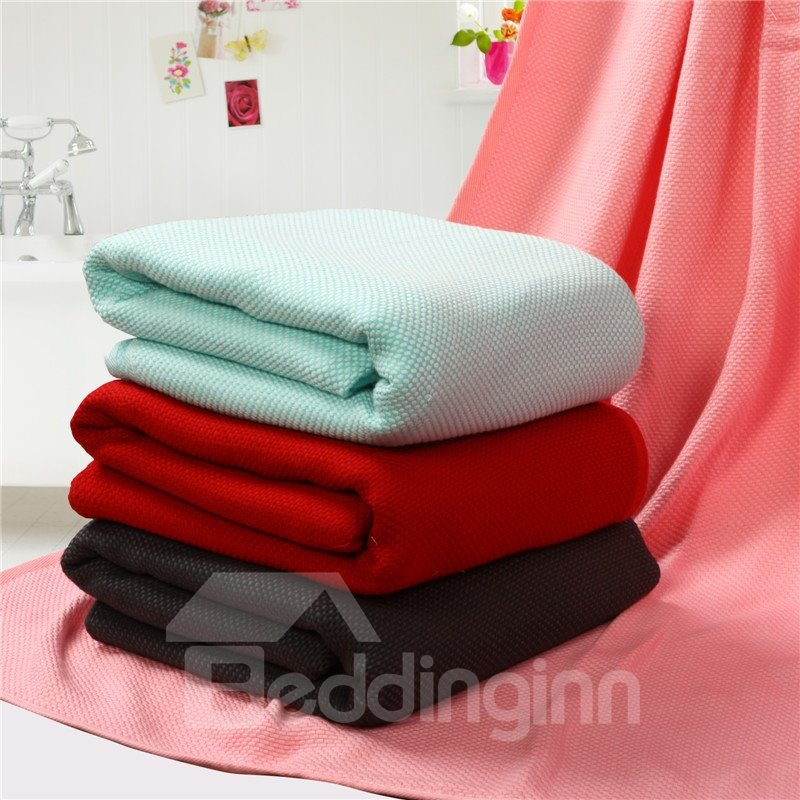 New Arrival High Quality Skin Care Plain Dyed Towelling Coverlet