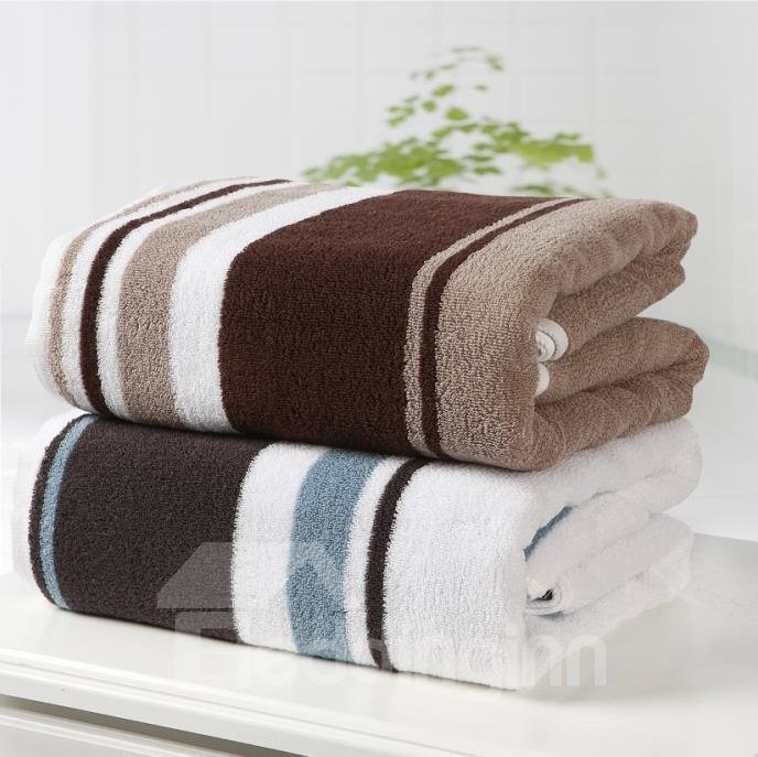 New Arrival High Quality 100% Cotton Skin Care Stripe Bath Towel