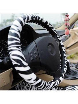 new arrival sexy zebra stripe high quality fashion sterring wheel cover