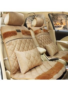 New Arrival Gooes Down Feather Made Car Set Covers with Trow Pillows