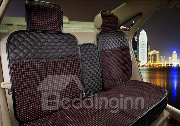 Down Feather and Leather Mixed Made Attractive Universal Car Seat Covers
