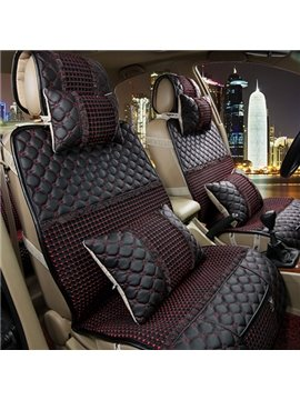 High Quality Down Feather and Leather Made Car Set Covers
