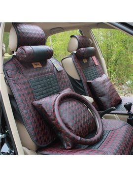 High Quality Luxury  Leather Made 9 Piece Car Set Covers