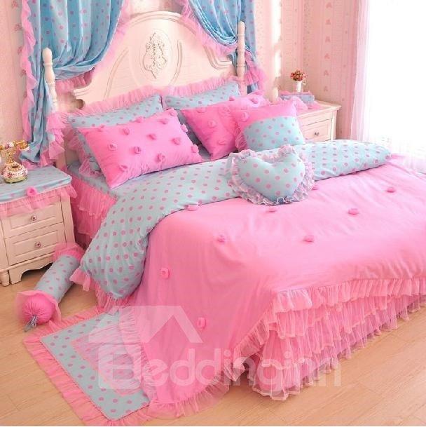 New Arrival Princess Style Romantic Lace 4 Piece Bedding Sets/Duvet Cover Sets