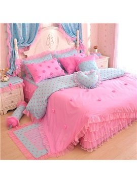 New Arrival Princess Style Romantic Lace 4 Piece Bedding Sets/Comforter Sets