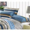 New Arrival 4 Piece Elegant 100% Cotton Stripe Style Bedding Sets