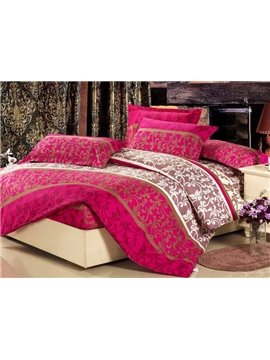 Luxurious Abstract Decorative Pattern 4 Piece Fitted Sheet
