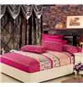 Luxurious Abstract Decorative Pattern 4 Piece Discount Bedding sets With Fitted Sheet