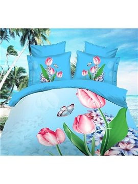 New Arrival High Quality Skin Care Trippingly Splendor Print 4 Piece Bedding Sets/Duvet Cover Sets