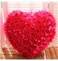 New Arrival Sweet Design Rose Love Heart Shape Throw Pillow