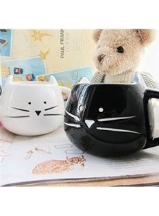 New Arrival 2-Pieces Lovely Black and White Cat Lovers Ceramic Cup