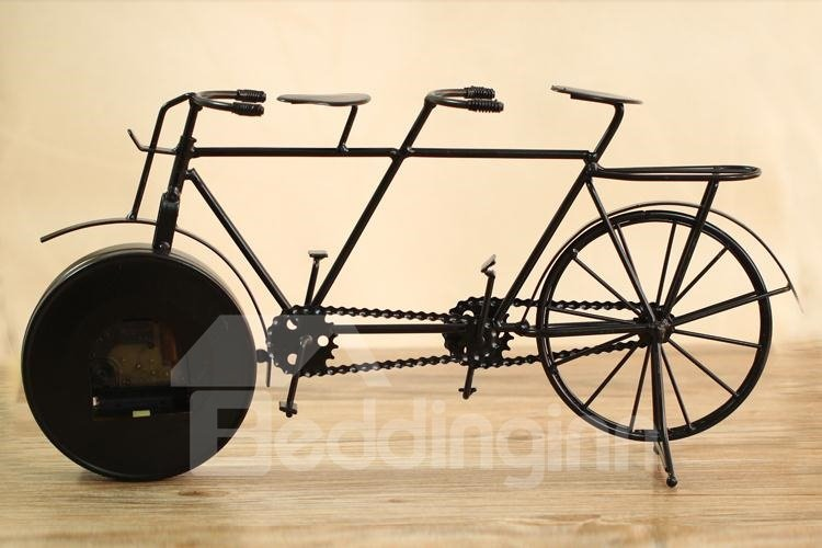 Creative rustic vintage wrought iron bicycle shape mute - Wrought iron bicycle wall art ...