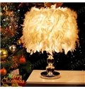 White Romantic Feature Decorative Crystal Table Lamp