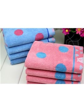 New Arrival Comfortable Skin Care Dot Print Candy Color Soft Children Towel