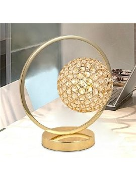 New Arrival Crystal Brightness Adjustable Golden Table Lamp