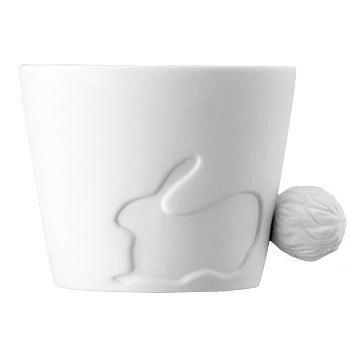 Fairy Tale Rabbit Ceramic Dual Purpose Candle Holder and Coffee Mug