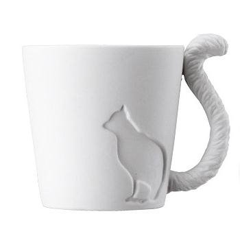 Fairy Tale Little Cat Ceramic Dual Purpose Candle Holder and Coffee Mug