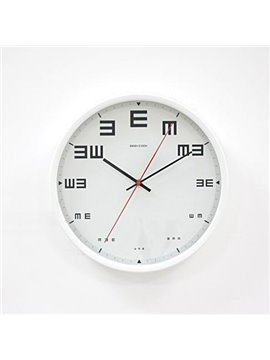 New Arrival Chic Vision Test Metal Wall Clock