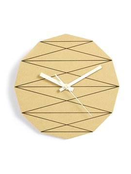 Polygon Geometry Element Mute Wooden Wall Clock