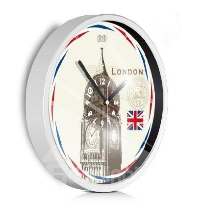 London Big Ben Pattern Mute Artistic Wall Clock
