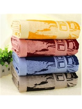 New Arrival Water Absorption Bamboo Patterns Soft Bath Towel