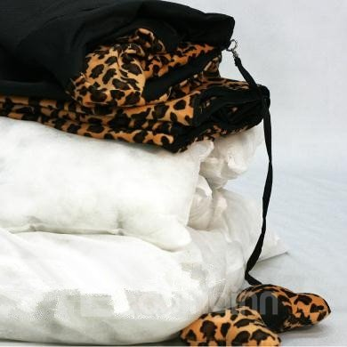 High Quality Leopard Strong 500D Oxford Fabric Warm Pets Kennel Sets