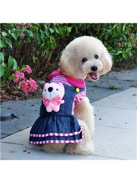 Cute New Arrival Cowboy Skirt with Little Bear Poodle Clothing